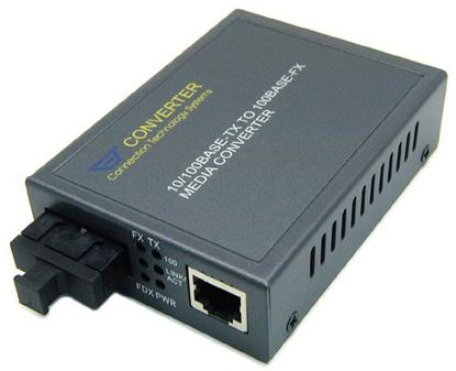 Picture of CTS 100Base RJ45 to SC Single-Mode Fibre Media Converter. 30km.