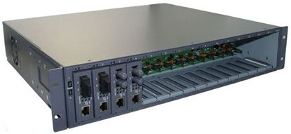 "Picture of CTS 16 Slot Universal Media Converter Rack, 19"" rack mountable."