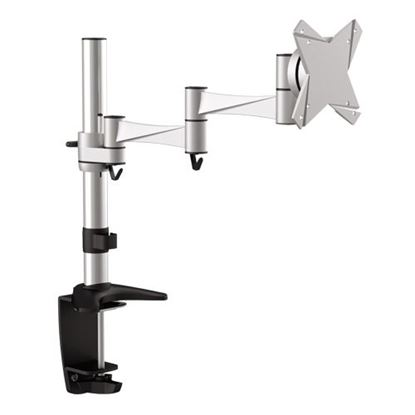 Picture of BRATECK 13'-27' Monitor desk mount. Rotate, extend, tilt and swivel.