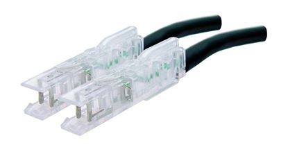 Picture of DYNAMIX 2m 1x Pair 110/110 Cat5e Patch Lead: Default Black, A spec