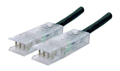 Picture of DYNAMIX 0.5m 2x Pair 110/110 Cat5e Patch Lead: Default Black, A spec
