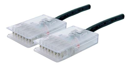 Picture of DYNAMIX 1m 4x Pair 110/110 Cat5e Patch Lead: Default Black, A spec