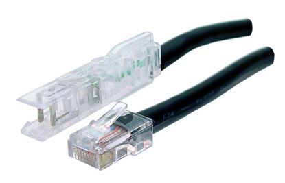 Picture of DYNAMIX 2m 1x Pair 110/RJ45 Cat5e Patch Lead: Default Black, A spec