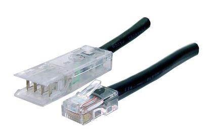 Picture of DYNAMIX 1m 2x Pair 110/RJ45 Cat5e Patch Lead: Default Black, A spec