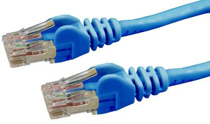 Picture of DYNAMIX 0.3m Cat6 Blue UTP Patch Lead (T568A Specification) 250MHz