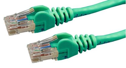 Picture of DYNAMIX 10m Cat6 Green UTP Patch Lead (T568A Specification) 250MHz