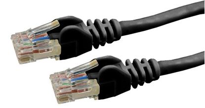 Picture of DYNAMIX 1m Cat6 Black UTP Patch Lead (T568A Specification) 250MHz