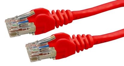 Picture of DYNAMIX 10m Cat6 Red UTP Patch Lead (T568A Specification) 250MHz