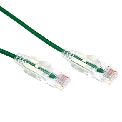 Picture of DYNAMIX 0.25m Cat6 Green Slimline Component Level UTP Patch Lead
