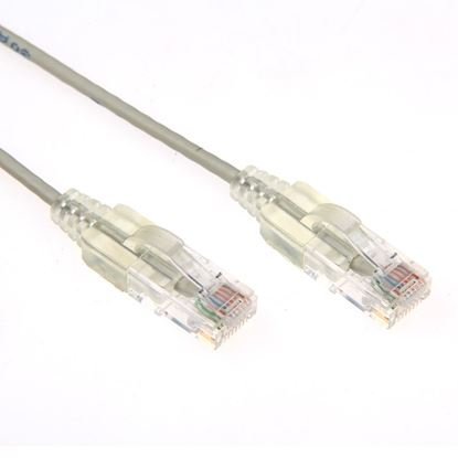 Picture of DYNAMIX 1m Cat6 Grey Slimline Component Level UTP Patch Lead