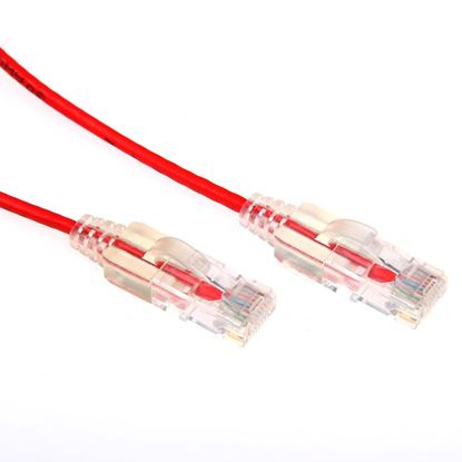 Picture of DYNAMIX 3m Cat6A 10G Red Slimline Component Level UTP