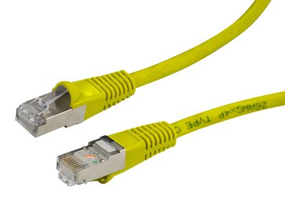 Picture of DYNAMIX 10m Cat6A Yellow SFTP 10G Patch Lead. (Cat6 Augmented) 500MHz