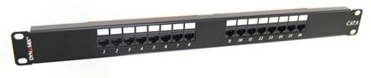 Picture of DYNAMIX 16 Port 19' Cat6 UTP Patch Panel, T568A & T568B