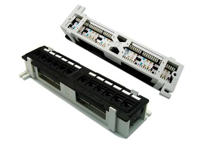 Picture of DYNAMIX Mini 1U RJ45 12 Port Patch Panel, Cat6 T568A & T568B Wiring