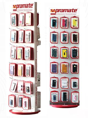 Picture of PROMATE Retail Point of Sale Stand. 52 x 180 x 55cm. Incl. 60x Hooks: