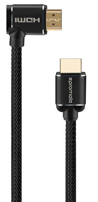 Picture of PROMATE 3m 4K HDMI right angle Cable. 24K Gold plated. High-Speed