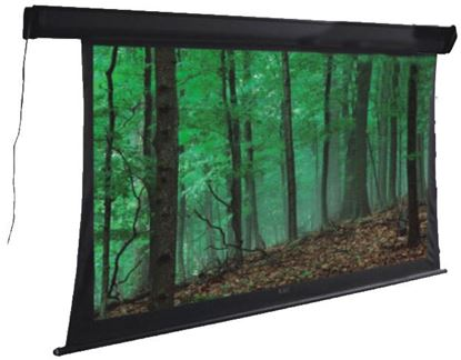 "Picture of BRATECK 108"" Deluxe Tab-tensioned, Electric Projector Screen. Matte"