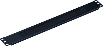 "Picture of DYNAMIX 1RU 19"" Brush Cable Management Bar. Black Colour."