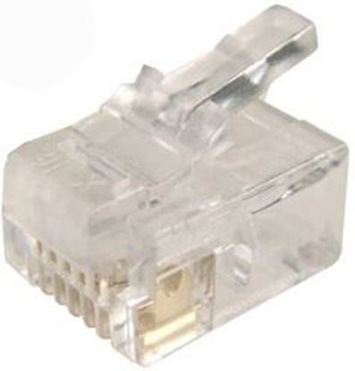 Picture of DYNAMIX RJ11 Plug 20pc Bag, 6P4C Modular Plug. 3 micron.