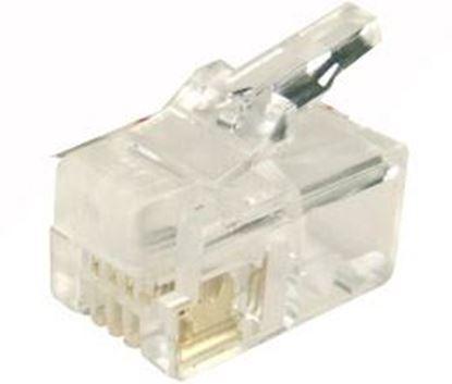 Picture of DYNAMIX RJ14 Plug 200pc Jar, 4P4C Modular Plug. 6 micron.