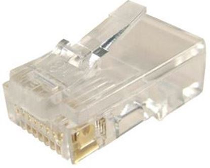 Picture of DYNAMIX RJ45 Plug 20pc Bag, 8P8C Modular Plug (Flat, Stranded).