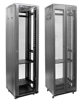 Picture of DYNAMIX 42RU Server Cabinet 600mm Deep Front Glass Door, Rear Mesh