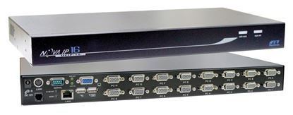 Picture of REXTRON 1 Port IP KVM Switch plus 16x port USB & PS2x KVM switch.