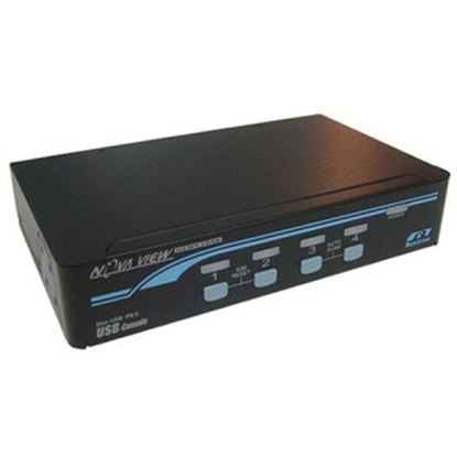 Picture of REXTRON 1-4 USB/PS2 Hybrid KVM Switch with USB Console Ports.