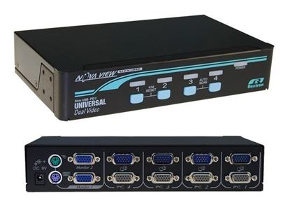 Picture of REXTRON 1-4 USB/PS2 Dual Video (VGA) KVM Switch. 4x 1.8m USB