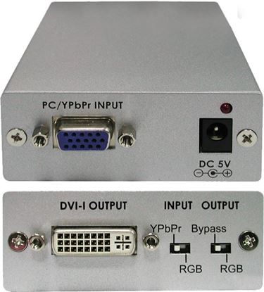 Picture of CYP VGA to DVI-D Active Converter. Supports up to 1600x1200@60Hz.
