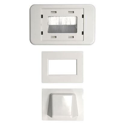 Picture of AMDEX Combination Flush & Bullnose Cable Management Wall