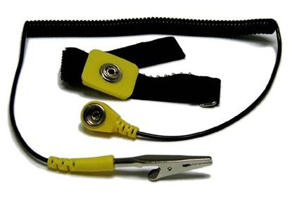 Picture of SPROTEK Anti-Static Wrist Strap. 1.8m Grounding Cord Essential for