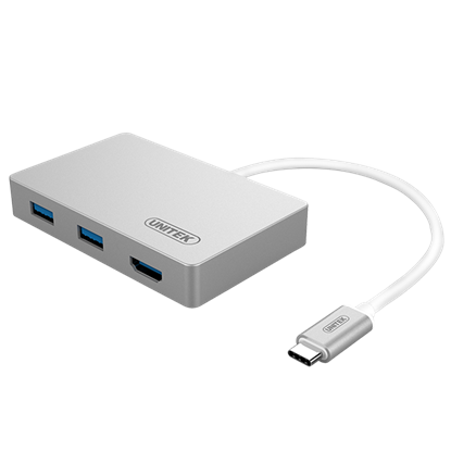 Picture of UNITEK USB 3.0 USB-C Multi-port Hub with Power Delivery. Includes