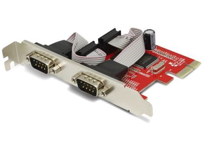 Picture of UNITEK 2 Port Serial PCI-E Card Includes Low Profile Brackets.