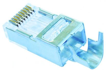 Picture of PLATINUM TOOLS Cat5e/6 Shielded EZ-RJ45 Plug with External Ground.