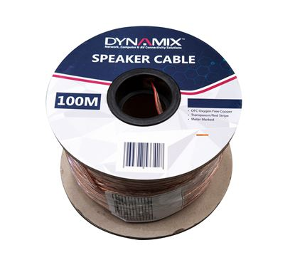 Picture of DYNAMIX 100m 16AWG/1.31mm² Speaker Cable, OFC 25/025BCx2C,