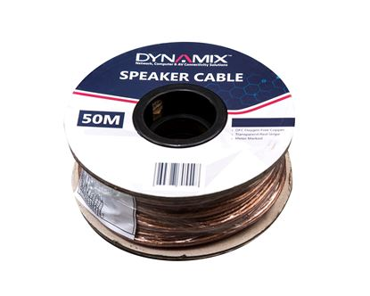 Picture of DYNAMIX 50m 16AWG/1.31mm² Speaker Cable, OFC 25/025BCx2C,
