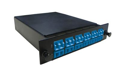 Picture of DYNAMIX MPO SM 12 Port LC Duplex Single-mode 24 Fibre Cassette.