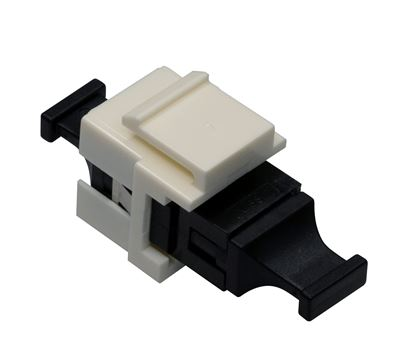 Picture of DYNAMIX MPO Fiber keystone coupler flangless Key up /Key down.