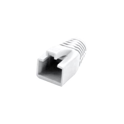 Picture of DYNAMIX Strain Relief Boot, OD: 7.5mm, Colour White. 20 Pack.