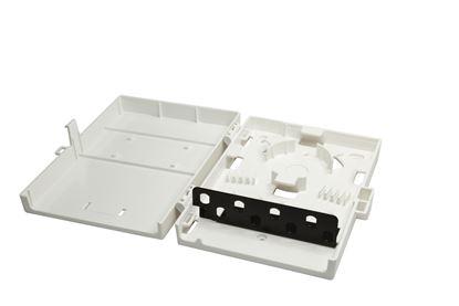 Picture of DYNAMIX Fibre Wall Enclosure 8 Port ST Simplex Unloaded. Dimensions: