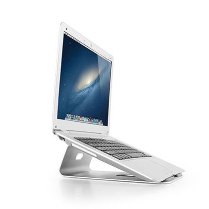 Picture of BRATECK Laptop desktop stand. Aluminium construction provides a