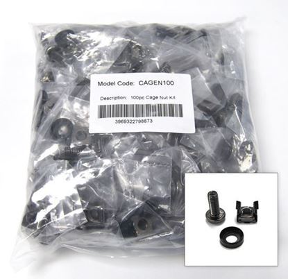 Picture of DYNAMIX 100pc Pack, 3 Piece Cage Nut. Each set is individually