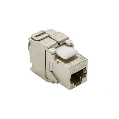 Picture of DYNAMIX Cat6A Class EA 10G Shielded Keystone Slimline Jack. Tooless