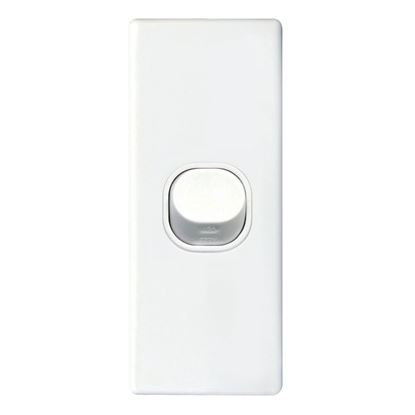 Picture of TRADESAVE Architrave Single 16A Vertical Switch. Moulded in Flame