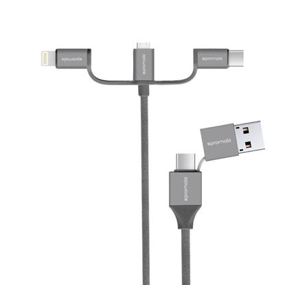 Picture of PROMATE 6-in-1 Multifunctional Universal Sync & Charge Cable with