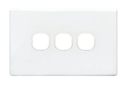 Picture of TRADESAVE Slim Switch Plate ONLY. 3 Gang. Accepts all Tradesave