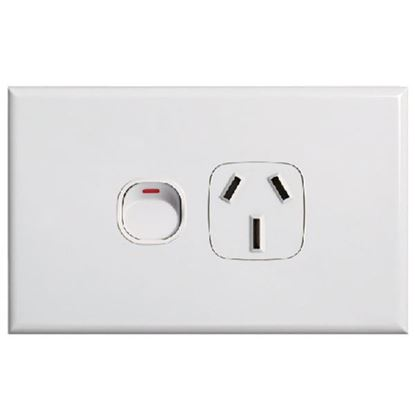 Picture of TRADESAVE Slim 10A Single Horizontal Gang Switch. Removable