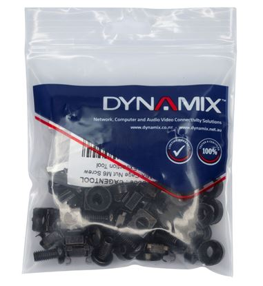 Picture of DYNAMIX 30pc Pack, 3 Piece Cage Nut, Black M6*15mm. Includes