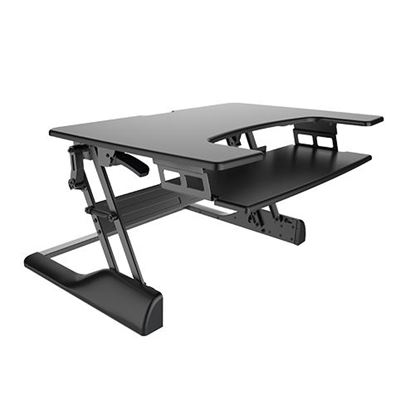 Picture of BRATECK Spring Assisted Z-Lift Sit-Stand Desktop Workstation.